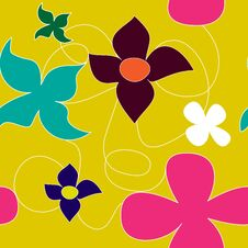 Free Summer Seamless Pattern Royalty Free Stock Photography - 22866407