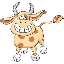 Vector Funny Cow Royalty Free Stock Images