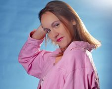 Pretty Girl In Pink Royalty Free Stock Photos