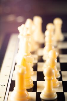 Chess Board Game. Strategy Ideas Concept Business Futuristic Graphic Icon. Royalty Free Stock Image