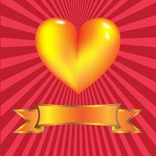 Free Gold Heart Stock Photos - 22871723