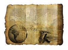 Free Safari Map Royalty Free Stock Images - 22872109