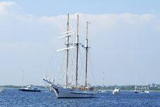 Free Three Mast Schooner Stock Photography - 22876882