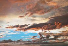 Free Beautiful Clouds Hues Royalty Free Stock Image - 22877226