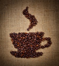 Free Coffee Cup Made From Beans Stock Images - 22881054