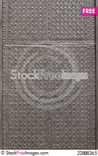 Free Black Metal Doors Royalty Free Stock Photo - 22888365