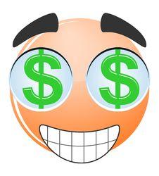 Face Dollar Cartoon Royalty Free Stock Photography