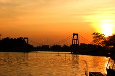 Free Sunset At The Nakhon Sawan Nong. Royalty Free Stock Image - 22880196