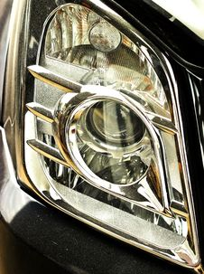 Free Closeup Of Car Headlight - Front View Royalty Free Stock Photo - 22880505