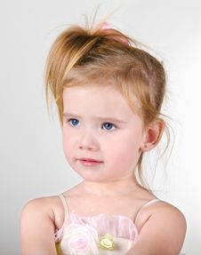 Free Portrait Of The Capricious Little Girl Royalty Free Stock Image - 22882296