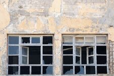 Broken Windows Royalty Free Stock Images