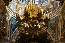 Free Gold Chandelier In The Old Church Stock Photos - 22883033