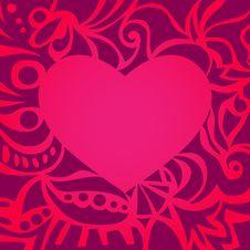 Free Red Valentine Card/Frame Royalty Free Stock Image - 22883376