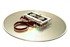Free Cassettes Vs Cds Royalty Free Stock Image - 22884786