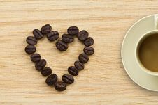 Free Heart Of Coffee Stock Photography - 22886732