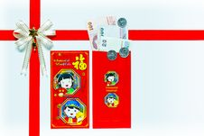 Free Red Envelope Gift With Banknotes Royalty Free Stock Images - 22887339
