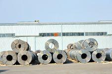 Free Rolls Of Steel Sheet In Harbor Stock Photo - 22888960