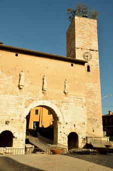 Free Clocktower. Spello. Umbria. Stock Photos - 22889953