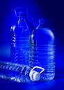 Free Blue Big Bottles Royalty Free Stock Photo - 22890555