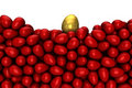 Free Red Eggs With One Gold Egg Stock Photography - 22894012