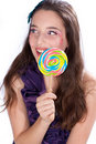 Free Pretty Girl With Candy Makeup Stock Photography - 22896822