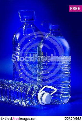Free Blue Big Bottles Royalty Free Stock Photo - 22890555