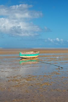 Free Fishing Boat On Tropical Beach Royalty Free Stock Photography - 22890347