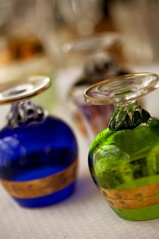 Free Vintage, Hand Blown Glass Brandy Snifters Stock Photo - 22890490
