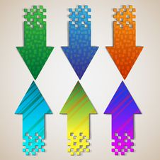 Free Textured Arrows Royalty Free Stock Images - 22891499