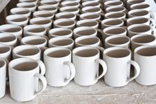 Ceramic Mugs Stock Photography