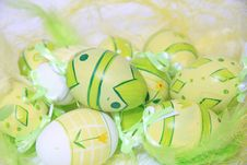 Free Easter Eggs With Feathers Stock Photos - 22893633