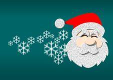 Free Graphic Santa On Blue Background Royalty Free Stock Photos - 22895188
