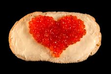 Free Heart From Red Caviar Royalty Free Stock Photography - 22895987