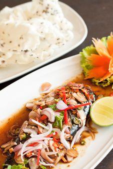 Free Thai Style Spicy Saba Stock Image - 22897701