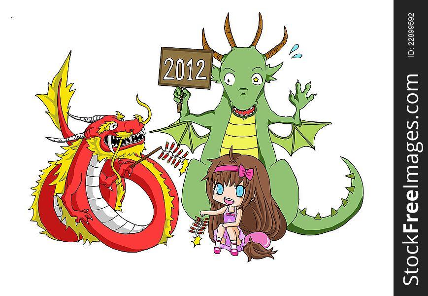 Chinese new year dragon vs. Zodiac dragon