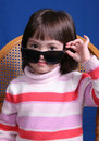 Free Little Girl With Sunglasses Royalty Free Stock Image - 2295746