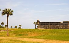 Free Outer Wall Of Historic Fort Stock Images - 2290254