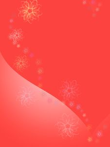 Free Red Background With Heart Stock Images - 2293974