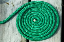 Free Green Nautical Rope Coiled Royalty Free Stock Photo - 2294055
