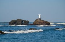 Free Jesus Over The Sea Royalty Free Stock Images - 2295319