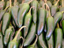 Green Hot Chillies Royalty Free Stock Photos