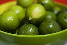 Limes Up Close Stock Photo