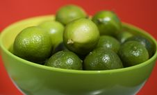 Limes Up Close Stock Images