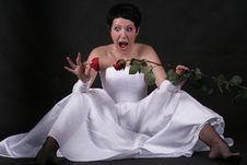 Amazed Bride Royalty Free Stock Image