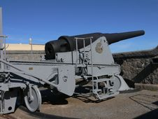 Old Big Gun Stock Photo