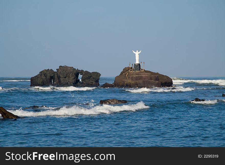 Jesus over the sea