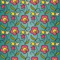 Free Seamless Flower Pattern Background Stock Photography - 22903022