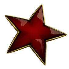 Free Red Star Stock Image - 22900151
