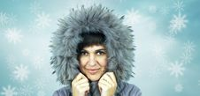 Free Young Beautiful Woman In Winter Hat Royalty Free Stock Images - 22901079