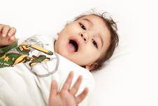 Free Indian Baby Laughing Stock Image - 22901301